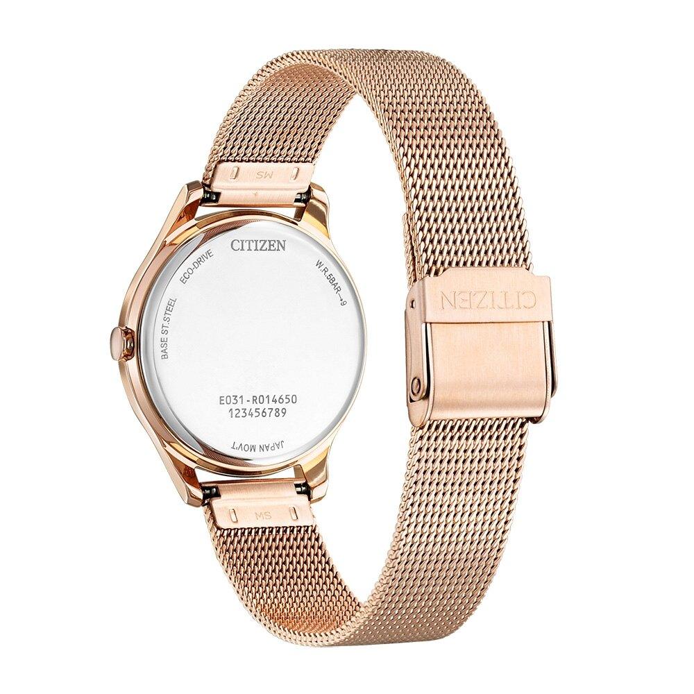 CITIZEN 星辰 光動能 時尚米蘭帶 大三針女錶 EM0508-80A