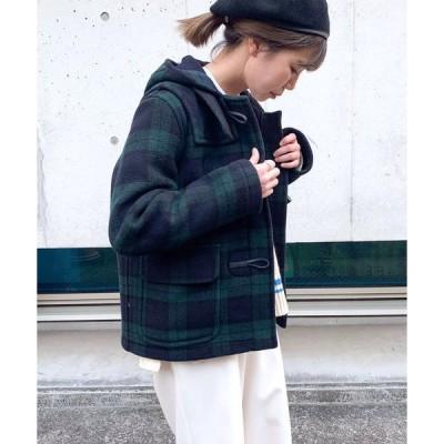 コート ダッフルコート 【LONDON TRADITION/ロンドントラディション】RINA SHORT CHECK ダッフルコート(LT60)