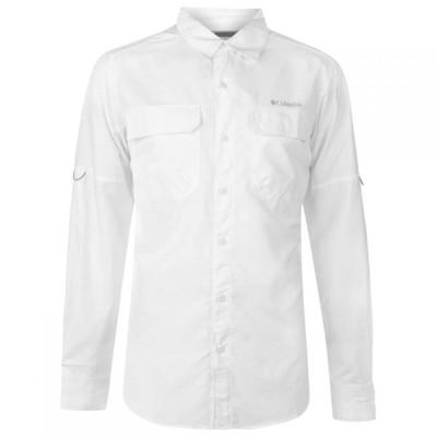 コロンビア Columbia メンズ シャツ トップス Ridge Long Sleeved Shirt White