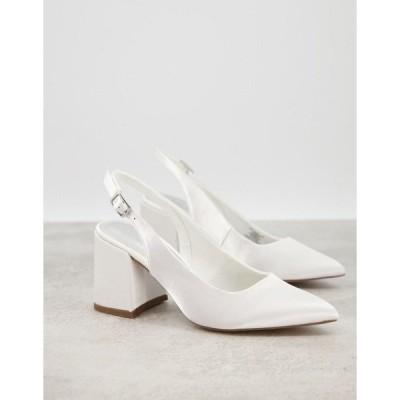 エイソス レディース ヒール シューズ ASOS DESIGN Sammy slingback mid heels in ivory Ivory