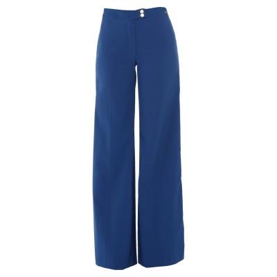 ELISABETTA FRANCHI パンツ ブルー 42 ポリエステル 87% / ポリウレタン 13% パンツ