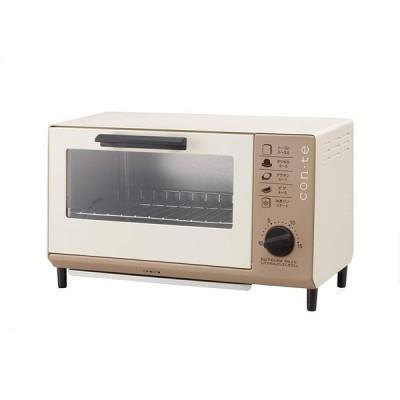 ツインバード con・te オーブントースター ブラウン TS-4041BR