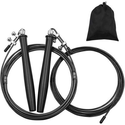 レーニング用 縄跳び なわとび 大人 トスピードロープ 高速回転 もつれ防止 特別なダブルボールベアリング 競技用 練習用 収納袋付 長さ調整可能