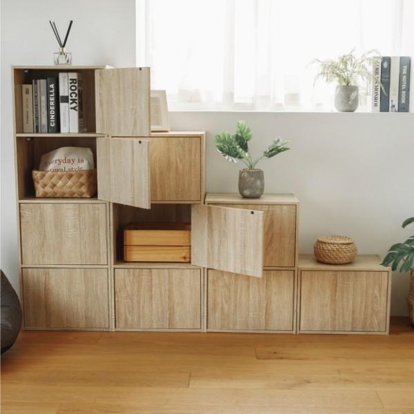 完美主義│Alma日式木紋收納櫃(兩色) 書櫃 三層櫃 置物櫃 門櫃【N0001/N0002/N0003/N0004】