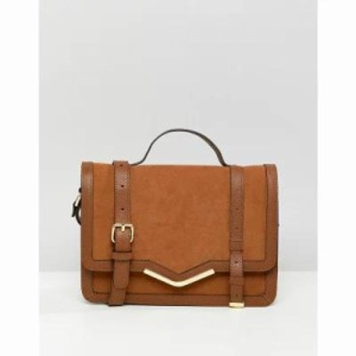 エイソス その他バッグ v-bar structured satchel bag Tan