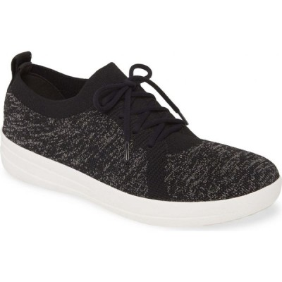 フィットフロップ FITFLOP レディース スニーカー シューズ・靴 F-Sporty Uberknit' Sneaker Black Fabric