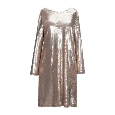 SUOLI ミニワンピース&ドレス プラチナ 42 ポリエステル 85% / ナイロン 15% ミニワンピース&ドレス