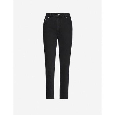 マージュ MAJE レディース ジーンズ・デニム スキニー・スリム ボトムス・パンツ Slim-fit straight high-rise jeans ANTHRACITE