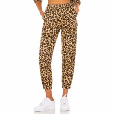 アダム セルマン Adam Selman Sport レディース ジョガーパンツ ボトムス・パンツ Unisex Workwear Track Pant Honey Leopard
