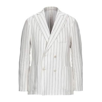 ラルディーニ LARDINI テーラードジャケット ホワイト 50 リネン 100% テーラードジャケット
