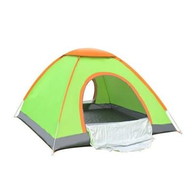 テント1-2 & 3-4 人単層投げる自動走行テントバーベキューアウトドアキャンプピクニックビーチハ 2person green