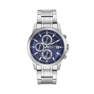 Kenneth Cole New York Male Quartz Watch with Stainless Steel Strap, Silver, 22 (Model: KC50733002) 並行輸入品