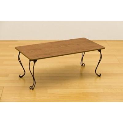 折れ脚テーブル 角型 アンティークレトロ風(新品) 猫脚テーブル 80×40cm THS-20ブラウン(BR)猫脚 姫系