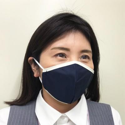 【抗菌】高機能布マスク ネイビー 【抗ウイルス】