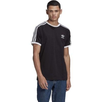 アディダス adidas Originals メンズ Tシャツ トップス 3-Stripes Tee Black 2