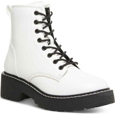 マッデン ガール Madden Girl レディース ブーツ コンバットブーツ レースアップブーツ シューズ・靴 Carra Lace-Up Lug Sole Combat Boots White