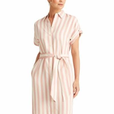 ラルフ ローレン LAUREN Ralph Lauren レディース ワンピース シャツワンピース ワンピース・ドレス Striped Twill Shirtdress Pink/Whit