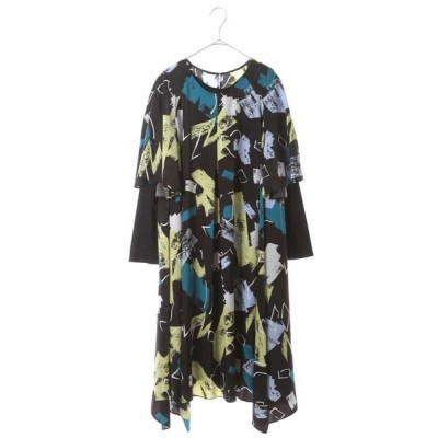 HIROKO BIS GRANDE/ヒロコビス グランデ 【洗濯機で洗える】デザインアートプリントドレス ブラック 13