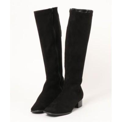 kobelettuce / スクエアトゥスリムシルエットロングブーツ WOMEN シューズ > ブーツ