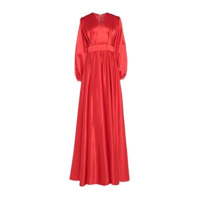 MIAU by CLARA ROTESCU ロングワンピース&ドレス レッド 36 シルク 100% ロングワンピース&ドレス