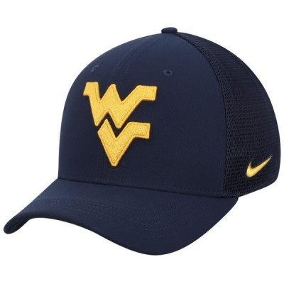 ユニセックス スポーツリーグ アメリカ大学スポーツ West Virginia Mountaineers Nike Performance Meshback Swoosh Flex Hat - Navy