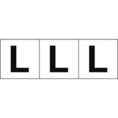 トラスコ中山トラスコ中山(TRUSCO) TRUSCO アルファベットステッカー 30×30 「L」 白地/黒文字 3枚入 TSN-30-L 438-8569(直送品)