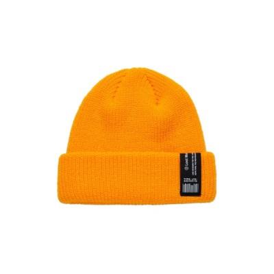 WANT SLIP / 【LMC】LABEL SHORT BEANIE / ロゴ ラベル ショート ビーニー MEN 帽子 > ニットキャップ/ビーニー