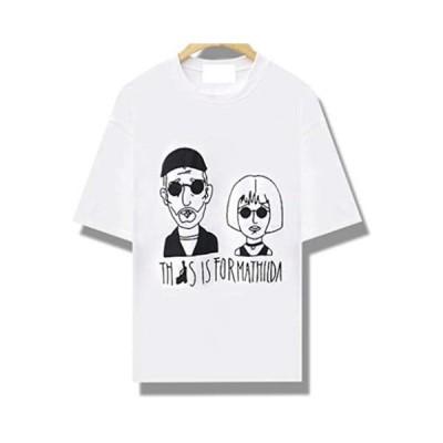 Tシャツ 半袖Tシャツ カットソー LEON レオン MATHILDA マチルダ フロントプリント (ホワイト Free Size)
