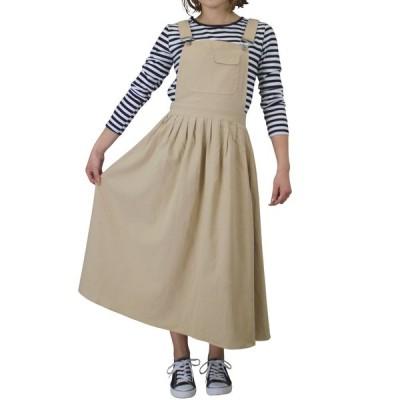 サロペット オールインワン ノースリーブ レディース オーバーオール ロング丈 ジャンパースカート 薄手 大人 大きいサイズ シンプル