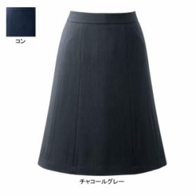 送料無料 事務服 制服 オフィスウェア ピエ HCS3611 キテミテ体感フレアースカート(55cm丈) 3号~15号