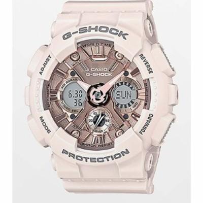ジーショック G-SHOCK レディース 腕時計 G-Shock GMAS120MF-4A Light Pink and Gold Watch Light pink