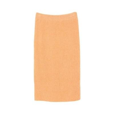 スカート ミディアム丈ニットタイトスカート