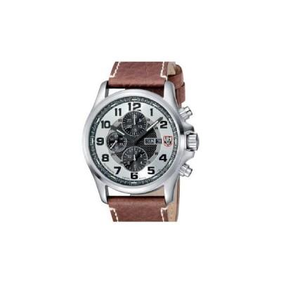 腕時計 ルミノックス アメリカ海軍SEAL部隊 1869 Luminox Silver Dial Stainless Steel Leather Chr