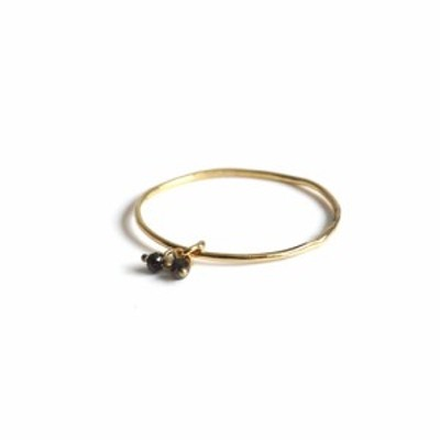 hirondelle et pepin(イロンデールエペパン)/ hr-21fw-577 k18 sorciere diamond ring ソルシエール ブラックダイヤモンド リング -