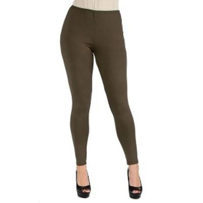 24セブンコンフォート レディース カジュアルパンツ ボトムス Women's Plus Size Stretch Ankle Length Leggings Olive