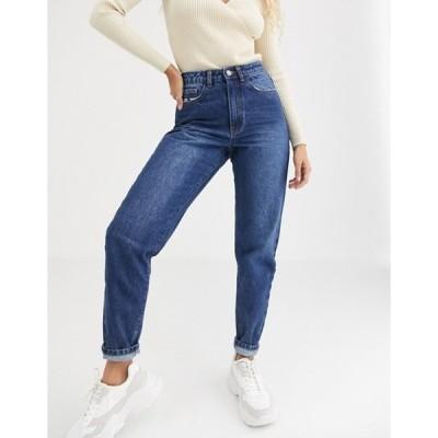 ミスガイデッド レディース デニムパンツ ボトムス Missguided mom jeans in blue