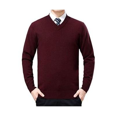 HGMY Vネック セーター メンズ ニット 薄手 秋冬 ビジネス 日常 長袖 トップス シンプルデザイン