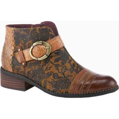 スプリングステップ ブーツ&レインブーツ シューズ レディース Georgiana Bootie (Women's) Camel Multi Leather/Microsuede