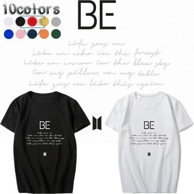 新品 BTS(防弾少年団) BT21 BE BTS グッズ 服 Tシャツ KPOP 半袖 打歌服 周辺応援服 グッズ レディース メンズ 男女兼用 春夏Tシャツ 韓流グッズ