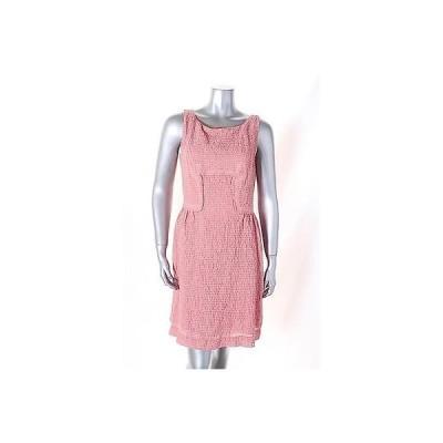 スタジオ エム ドレス ワンピース フォーマル Studio M レッド ストライプド ノースリーブ A Line ドレス サイズ M 118LAFO