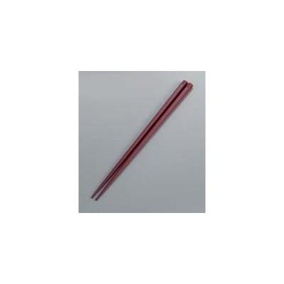 抗菌 六角 箸 すべり止め付 24cm アズキ