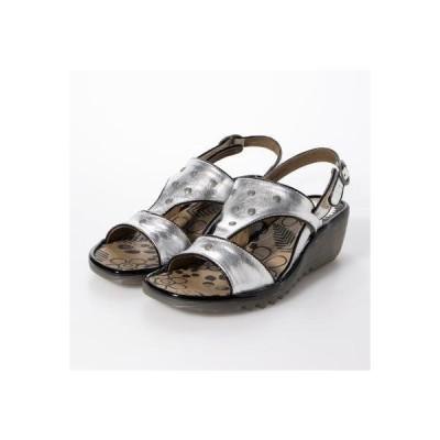 ヨーロッパコンフォートシューズ EU Comfort Shoes FLYLONDON サンダル (シルバー)