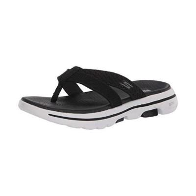 Skechers レディース Go Walk 5-Sun Kiss ビーチサンダル US サイズ: 24 カラー: ブラック