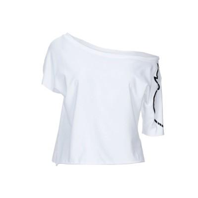 ノストラサンティッシマ NOSTRASANTISSIMA T シャツ ホワイト XS コットン 46% / レーヨン 46% / ポリウレタン 8%