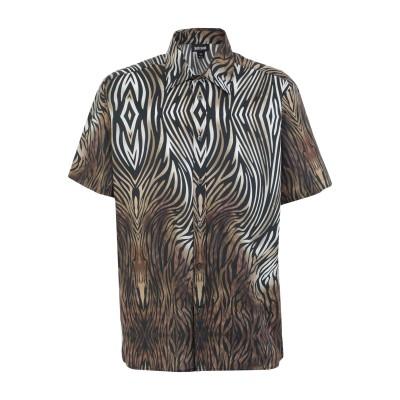 ジャストカヴァリ JUST CAVALLI シャツ ブラック 46 コットン 96% / ポリウレタン 4% シャツ