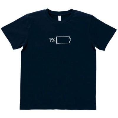 デザイン Tシャツ 残り1% ネイビー