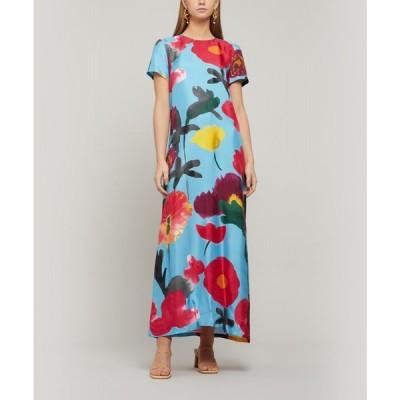 ラダブルジェー La DoubleJ レディース ワンピース ワンピース・ドレス Swing Silk Maxi-Dress Prom azzurro