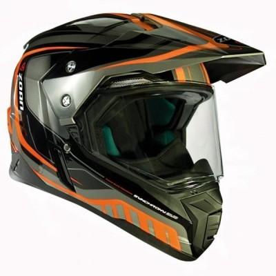 オートバイ ヘルメット フルフェース Zoan Synchrony Tourer Orange Double Lens Dual Sport Snowmobile Helmet X-Large 正規輸入品