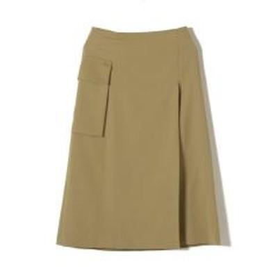 シップスPrimaryNavyLabel:ウールカラースカート【お取り寄せ商品】