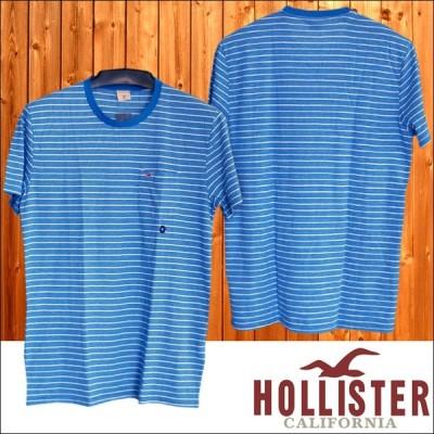 ホリスター メンズ Tシャツ HOLLISTER ボーダー ブルー アメカジ ブランド 正規品 サファリ 雑誌 掲載 ストリート アバクロ ファッション スタイル 063